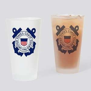 USCG-Logo-2-Blue.gi... Drinking Glass