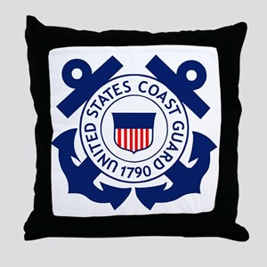 USCG-Logo-2-Blue.gi... Throw Pillow