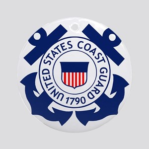 USCG-Logo-2-Blue.gi... Round Ornament