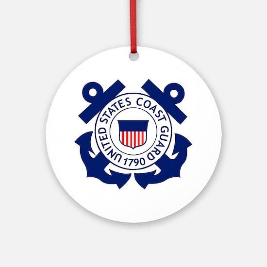 USCG-Logo-2-Blue.gi... Round Ornament