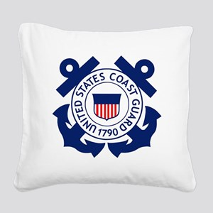 USCG-Logo-2-Blue.gi... Square Canvas Pillow