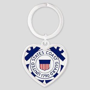 USCG-Logo-2-Blue.gi... Heart Keychain