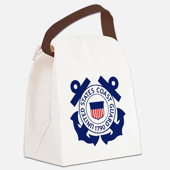 USCG-Logo-2-Blue.gi... Canvas Lunch Bag