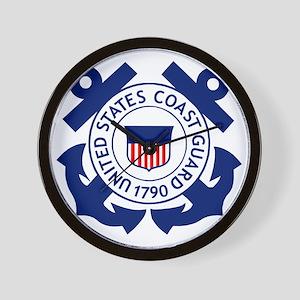 USCG-Logo-2-Blue.gi... Wall Clock