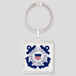 USCG-Logo-2-Blue.gi... Square Keychain