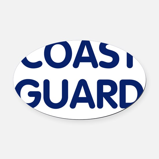 USCG-Coast-Guard-Te... Oval Car Magnet