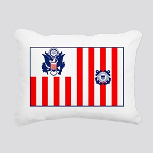 USCG-Ensign-Flag-Ou... Rectangular Canvas Pillow