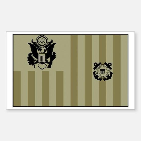 USCG-Ensign-Flag-Su... Sticker (Rectangle)