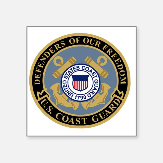 "USCG-Defenders-Of-F... Square Sticker 3"" x 3"""