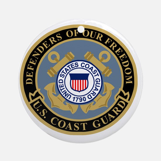 USCG-Defenders-Of-F... Round Ornament