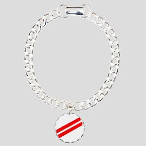 USCG-FA-Black-Shirt Charm Bracelet, One Charm