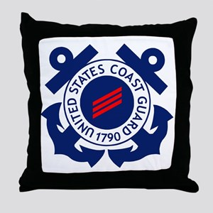 USCG-FN-Badge-X Throw Pillow