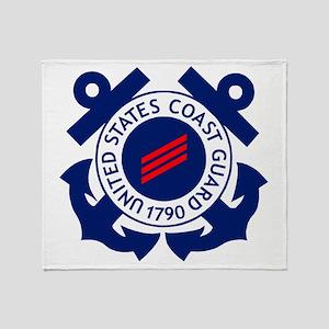 USCG-FN-Badge-X Throw Blanket