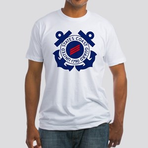 USCG-FN-Badge-X Fitted T-Shirt