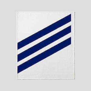 USCG-SN-Whites-X Throw Blanket