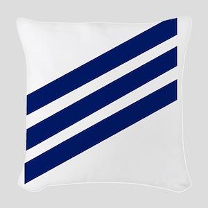 USCG-SN-Whites-X Woven Throw Pillow