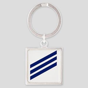 USCG-SN-Whites-X Square Keychain
