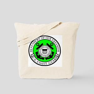USCG-Defenders-Of-Freedom-Airman-Green.gi Tote Bag