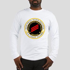 USCGR-FN-Badge-Black Long Sleeve T-Shirt