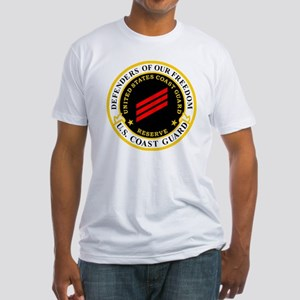 USCGR-FN-Badge-Black Fitted T-Shirt