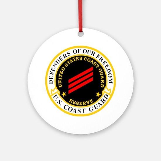 USCGR-FN-Badge-Black.gif Round Ornament