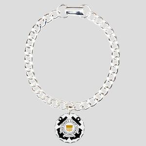 USCG-Logo-2-Black-Gold.g Charm Bracelet, One Charm
