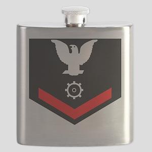USCG-MK3-Black-Shirt Flask