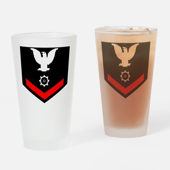 USCG-MK3-Black-Shirt Drinking Glass
