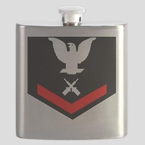 USCG-GM3-Black-Shirt Flask