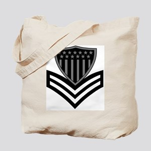USCG-PO1-Pin-Subdued-X Tote Bag