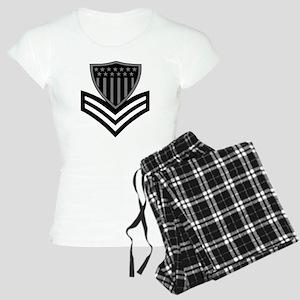 USCG-PO1-Pin-Subdued-X Women's Light Pajamas
