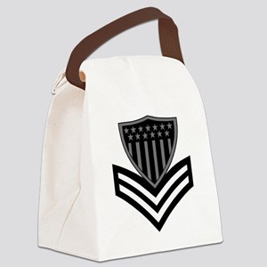 USCG-PO1-Pin-Subdued-X Canvas Lunch Bag