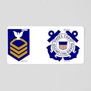 USCG-CPO-Mug-X Aluminum License Plate