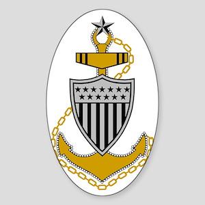 USCG-SCPO-Pin-Bonnie-Y Sticker (Oval)
