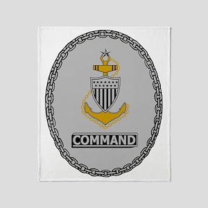 USCG-SCPO-Command-Badge Throw Blanket