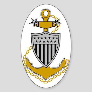 USCG-MCPO-Black-Shirt-2 Sticker (Oval)