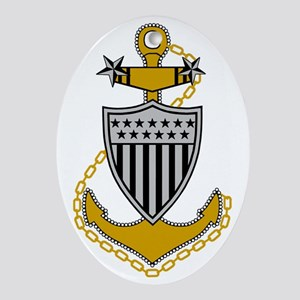 USCG-MCPO-Black-Shirt-2 Oval Ornament