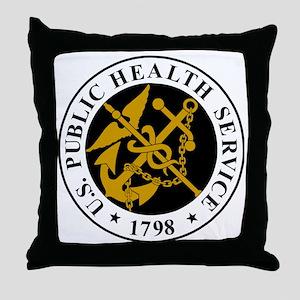 USPHS-Logo-For-Stripes Throw Pillow
