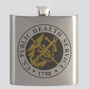 USPHS-Logo-For-Stripes Flask