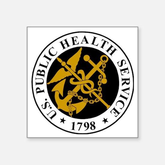 "USPHS-Logo-For-Stripes.gif Square Sticker 3"" x 3"""