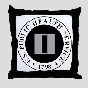 USPHS-LT-Khaki-Cap Throw Pillow