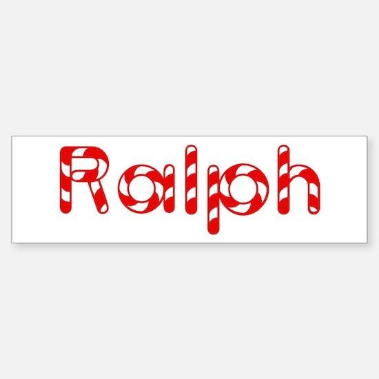 Ralph - Candy Cane Bumper Bumper Bumper Sticker