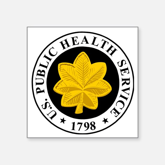 """USPHS-LCDR-Cap.gif Square Sticker 3"""" x 3"""""""
