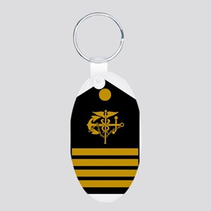 USPHS-CAPT-Board Aluminum Oval Keychain