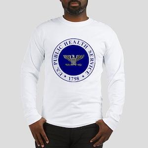 USPHS-CAPT-White-Cap Long Sleeve T-Shirt
