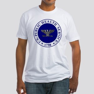 USPHS-CAPT-White-Cap Fitted T-Shirt