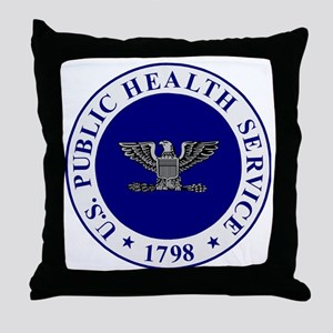 USPHS-CAPT-White-Cap Throw Pillow