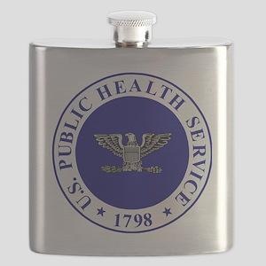 USPHS-CAPT-White-Cap Flask