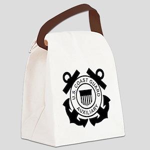 USCGAux-Logo-Black Canvas Lunch Bag