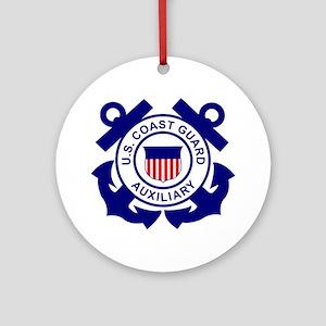 USCGAux-Logo-Bonnie Round Ornament